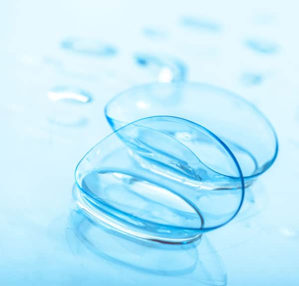 Contact lenses in fluid